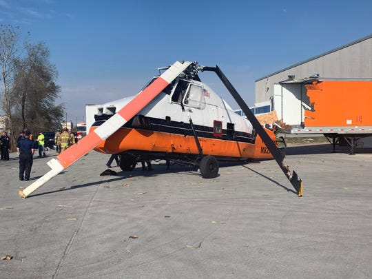 A 1958 Sikorsky S-58JT helicopter reportedly crashed on Sunday, Nov. 10, 2019, in the parking lot XPO Logistics, located at 135 South Mt. Zion Road in Lebanon. No one was seriously hurt.