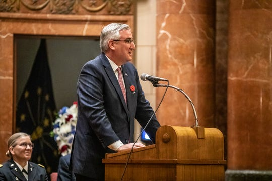 Indiana Gov. Eric Holcomb wants to ban cellphones while driving, raise the smoking age and add protections for pregnant workers.