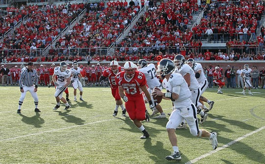 The 2010 Cortaca Jug game. Cortland won, 20-17.