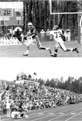 Scenes from the Cortaca Jug game in 1988. Ithaca won, 24-17.