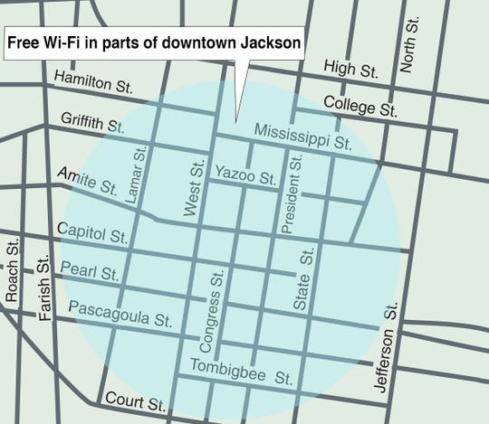 The city of Jackson is now offering free Wi-Fi in a portion of downtown Jackson. Service is expected to be expanded to other parts of the city.
