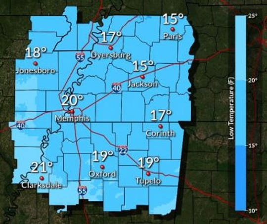 Wednesday morning temperatures are expected to hover in the teens before warming up to the 40s on Wednesday afternoon.