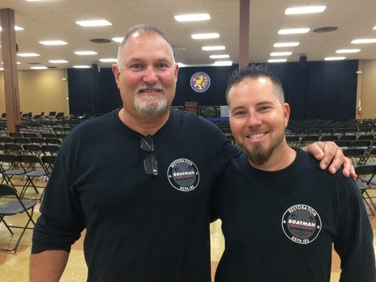Kenny Boatman, left, is one of the key people in the Top Wrench Competition, and Dustin Ford is a former participant.