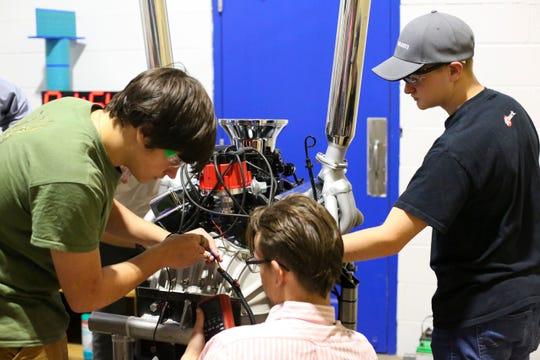 Engine diagnostics was a big part of the event.