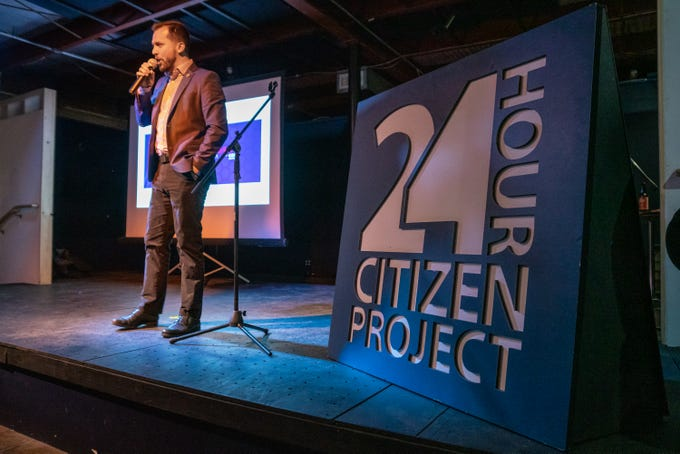 Members of the community pitch their ideas to better the community at the 2019 24 Hour Citizen Project event on Nov. 9, 2019.