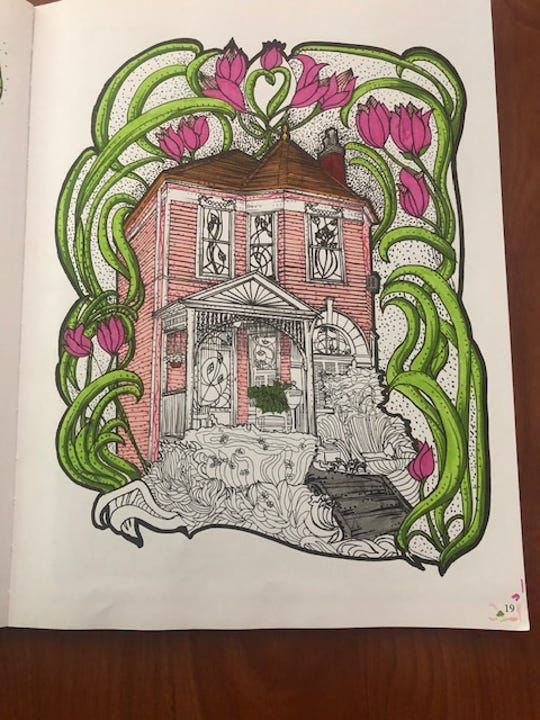 Chromatic Homes Design and Coloring Book by John Hans Gilderbloom