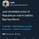 A screenshot of a tweet from a deleted account went viral on the night of the election, spread by a network of bot accounts.
