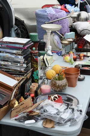 Merchandise was a multitude of miscellany. Treasures in the Trunk, a group rummage sale, was held Saturday by the Columbiettes of San Marco Catholic Church.