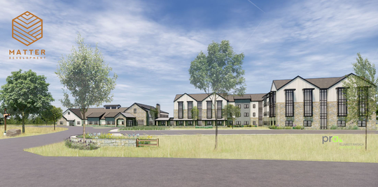 Matter Development has proposed a one-story memory care facility and a three-story assisted living center as part of a proposed $65 million development at the northwestern corner of Port Washington and Highland roads.