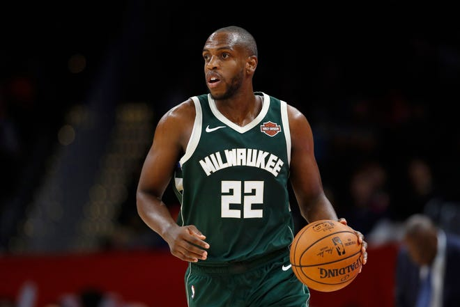 Khris Middleton is averaging 18.5 points, 5.7 rebounds and 2.9 assists while shooting 46.8% from the field and 39.3% from three-point range.