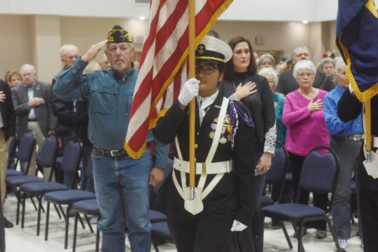 A scene from the Annual North Central Arkansas Veterans Council Veterans Day Ceremony at St. Peter the Fisherman Catholic Church on Monday.