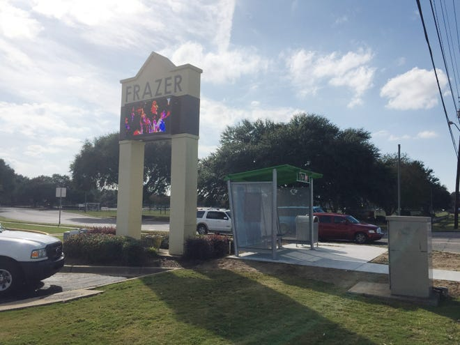 Frazer Church on Atlanta Highway raised funds to place shelters at the two existing bus stops on either side of the church's property.
