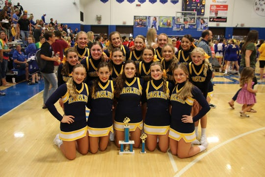 Delta High School cheerleading competition squads for 2019-20 qualified for state compeition this year, where they won State Runner-Up in the Varsity C cateogry.