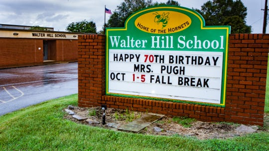 Walter Hill Elementary is located just north of Murfreesboro city limits.