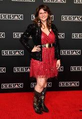 Jenee Fleenor walks the red carpet at the 2019 SESAC Nashville Music Awards on Sunday, Nov. 10, 2019, in Nashville.