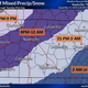 Timing of expected precipitation Monday, Nov. 11, 2019