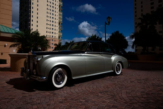 Sal and JoAnn Campo's 1960 Rolls-Royce Silver Cloud is pictured, Monday, Nov. 11, 2019, at their home in Marco Island.