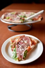 Vesta Wood Fired Pizza & Bar in East Rutherford. A Prosciutto Arugula pizza.