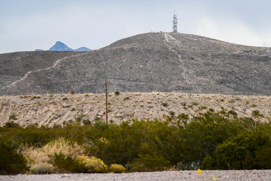 This Wednesday, Nov. 6, 2019 photo, shows the Tortugas Dam in Las Cruces. The earthen dam was built decades ago just east of the New Mexico State University Golf Ccourse. The Tortugas Site 1 Dam has never been breached in nearly 60 years, but it is one of nearly 100 dams in the state that are considered high hazard and in poor shape.