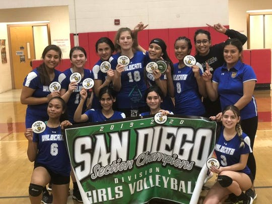 The West Shores volleyball team won the CIF-San Diego Section Divison 5 championship on Friday, the first CIF in any girls' sport in school history.