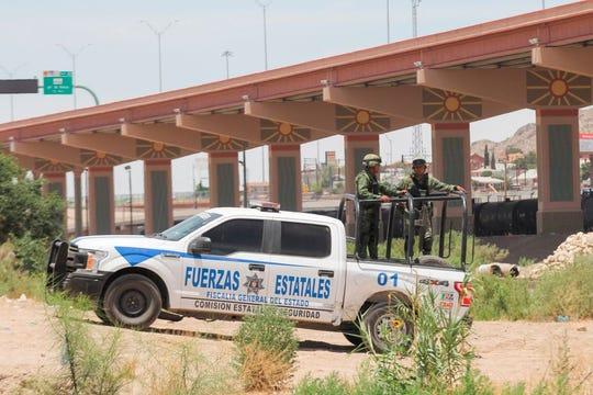 Debido a los recientes acontecimientos violentos ocurridos en la frontera, se puede ver más presencia de la Guardia Nacional.