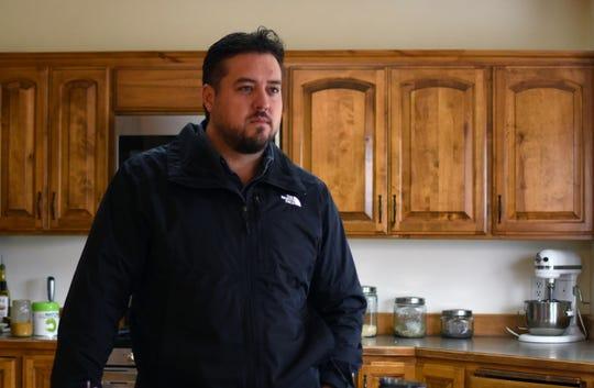 Alex LeBarón, en su casa de la comunidad LeBarón, el 8 de noviembre de 2019 en el estado de Chihuahua (México).