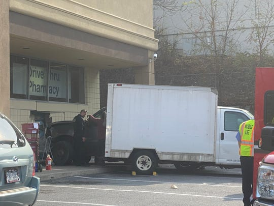 A man drove a truck into the Town of Poughkeepsie Rite Aid across from Marist College along Route 9 on Monday.