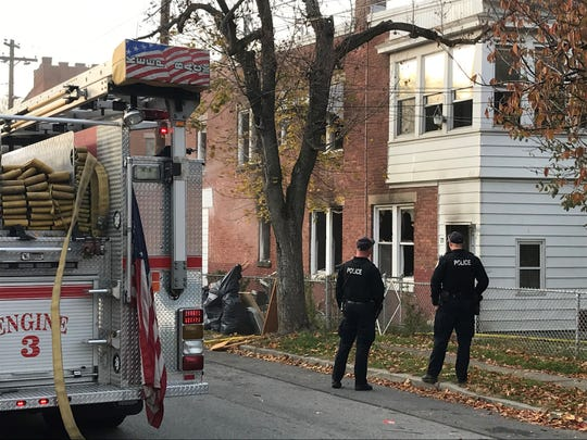 City of Poughkeepsie fire and police responded to a fire on Mount Carmel Place in the city on Monday.