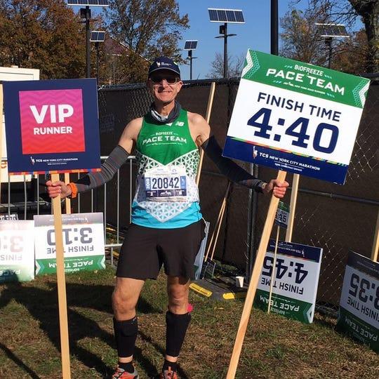 Salt Point's David Walker has been a marathon pacer at the NYC Marathon six times.