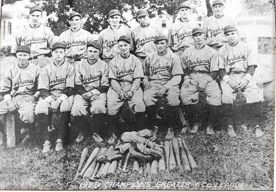 The Yorkana baseball team, winners of the 1929 Greater York County baseball league.