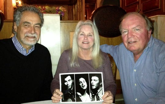 Johnson, left, reunited with his bandmates, Susie (Moran) Grau, who works with the hearing impaired at the University of Hawaii, and Jack Rickenbach, who runs a business producing corporate events in Philadelphia, in 2013.