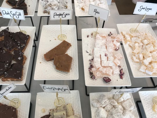 Turkish delight, classic gellied candies dusted with confectioners' sugar, star on the menu at the new Pangolin Café in Midtown Reno.