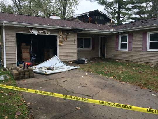 The residence at 304 S.W. H St. was severely damaged by fire Sunday night.