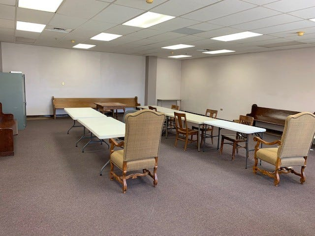 Once filled with thousands of paper files on court cases from the past decade, this previous storage room is set to become a new courtroom in the Tom Green County Courthouse, 112 W. Beauregard