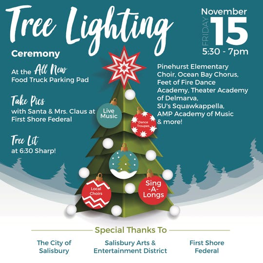 The Tree Lighting Ceremony will be the highlight of the next Third Friday.