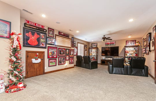 Jim's passion for Cardinals baseball is well represented in his man cave. Missy says there are probably another 500 pieces of memorabilia that haven't yet made their way into the décor.