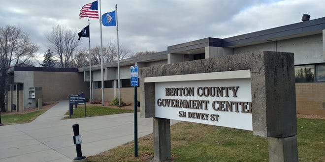 The Benton County Goverment Center on a blustery Monday, Nov. 4, 2019 in Foley.