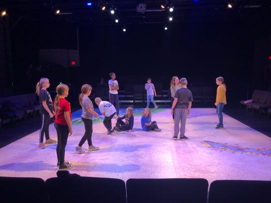 """Students rehearse  """"The Rainbow Fish Musical,"""" which will be performed at 10 a.m. and 2 p.m. Nov. 16 and Nov. 23in the Helgeson Learning Lab at GREAT Theatre."""