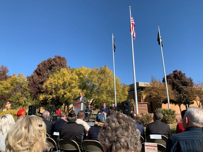 Rep. Chris Stewart speaks at Veteran's Day event on Nov. 11, 2019.