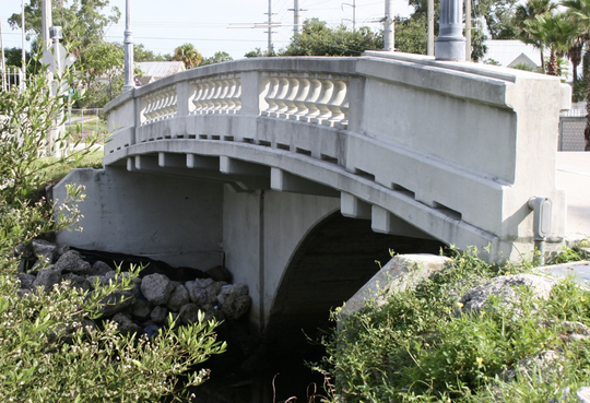 Moores Creek Bridge, known locally as Tickle Tummy Hill, is on Second Street, just north of downtown Fort Pierce.