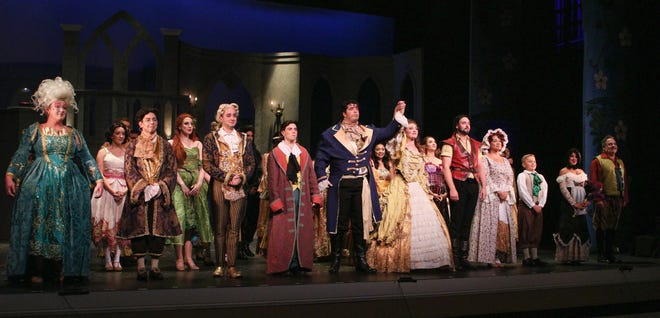 """""""Beauty and the Beast,"""" performed at the Levoy Theatre in August 2018, took the highest award of the evening, Outstanding Production of a Musical, while in the same production, Andrew Jarema, an actor with OBSP since 2007, took the award for Outstanding Supporting Actor in a Musical for his role as Lumiere during the 2019 Perry Awards."""
