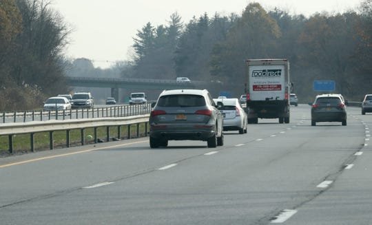 Route 684 near the Connecticut state line near Westchester County Airport Nov. 11, 2019. Connecticut is proposing to charge a toll on vehicles on their stretch of the road.