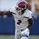 New Mexico State receiver O.J. Clark caught four passes in his team's loss at Ole Miss Saturday