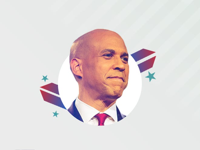 Democratic presidential candidate Cory Booker.