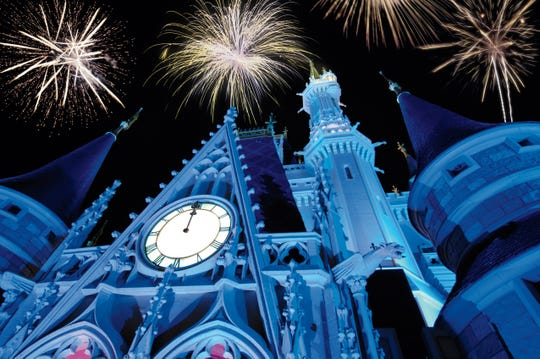 New Year's Eve is one of the biggest fireworks evenings of the year at the Magic Kingdom in Walt Disney World Resort. Fireworks and nighttime shows will light up the skies and create a mood of celebration on Dec. 31, while revelry of other sorts takes place elsewhere throughout the Disney parks.