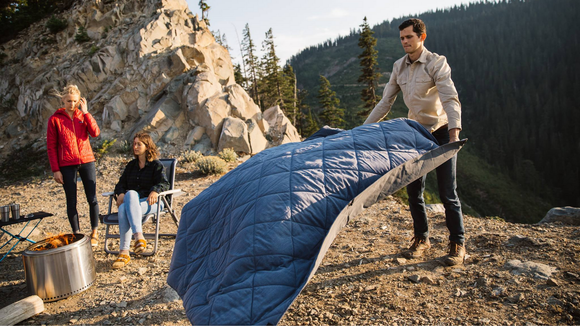 This waterproof blanket is ideal for campers.