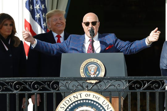 Nationals GM Mike Rizzo on White House visit: 'We weren't trying to make a political statement'