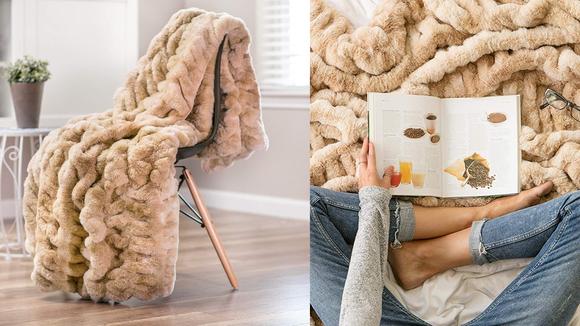 Snuggle up with this plush throw.