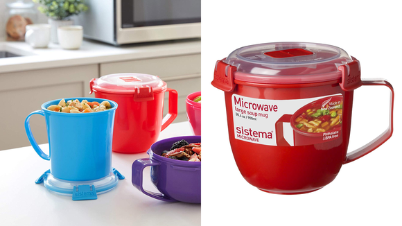 It's also great for heating hot cocoa or leftovers.