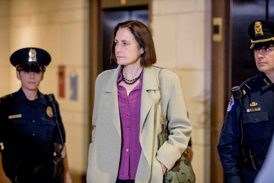 Fiona Hill on Capitol Hill on Nov. 4, 2019.